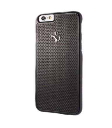 Ferrari Hardcase FEPEHCP6RE iPhone 6/6S perforated aluminium czarny