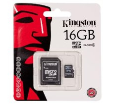 Kingston microSDHC 16GB class4 + adapter