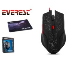 EVEREST SGM-X6 Mouse 2400 DPI LED + Podkładka