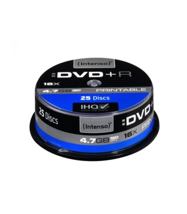 Intenso DVD-R 16x 4,7GB Printable (25 Cake)