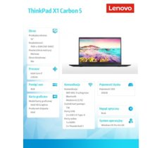 Lenovo ThinkPad X1 Carbon 5 20HQ0024PB