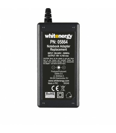 Whitenergy Zasilacz 19V | 4.74A 90W wtyk 4.8-4.2*1.7 mm HP Compaq 05864
