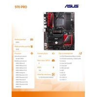 Asus 970 PRO GAMING/AURA AM3+ 4DDR3 RAID/USB3/ATX