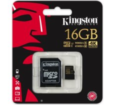 Kingston SDHC 16GB Class10 UHS-I Gold 90/45MB/s + adapter