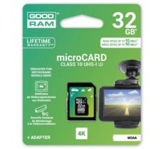 GOODRAM microSDHC 32GB Class 10 + adapter 95/90MB/s 4k DEDICATED