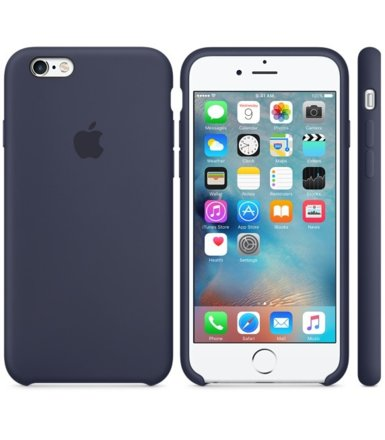 Apple iPhone 6s Silicone Case Midnight Blue  MKY22ZM/A