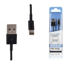 Whitenergy Kabel do transferu danych USB iPHONE 5, 30cm, czarny