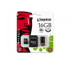 Kingston microSDHC 16GB class 10 + adapter + czytnik USB