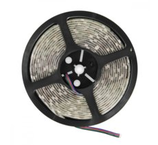 Whitenergy Taśma LED|5m|30szt/m|SMD5050|7.2W/m|12V|IP65|10mm|RGB|bez konektora