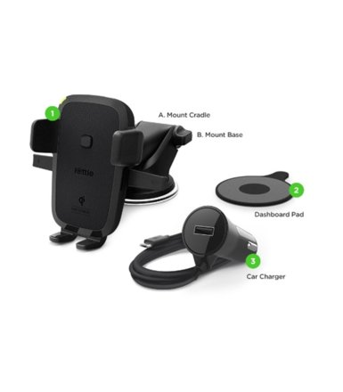 iOttie Uchwyt samochodowy iOttie Easy One Touch Wireless Fast Charging Dash & Windshield Mount