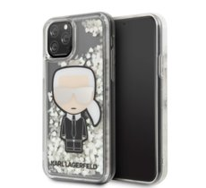 Karl Lagerfeld Etui hardcase iPhone 11 KLHCN61GLGIRKL Iconic Glitter Glow in the dark