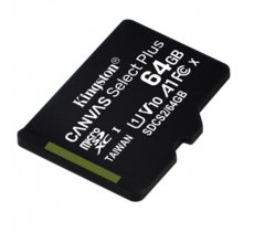 Kingston Karta pamięci microSD  64GB Canvas Select Plus 100MB/s