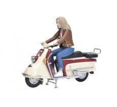 Heinkel Tourist 103 A2 with Rider