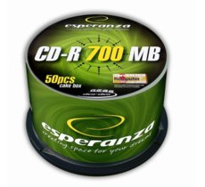 Esperanza CD-R Silver 700MB x56 - Cake Box 50