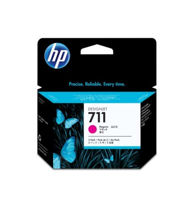 HP Tusz 711 29ml Magenta 3-Pack CZ135A