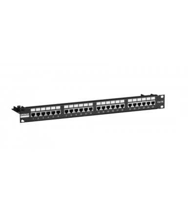 "Linkbasic Patch panel 19""/1U, UTP, kat. 5e, 24 porty, półka organizująca kable"