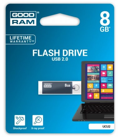 GOODRAM Cube Graphite 8GB USB2.0