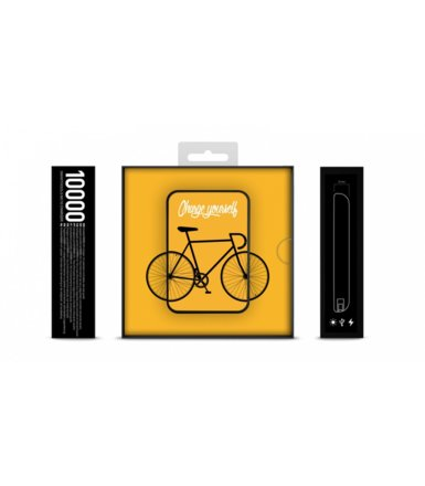 SMARTOOOLS Powerbank MC5 Bike-Yellow, 5000mAh, 2.1A/ 5V