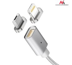 Maclean Kabel micro USB magnetyczny silver MCE160 - Quick & Fast Charge
