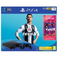 Sony Playstation 4 1TB Slim + Gra FIFA 19 + PAD DS4