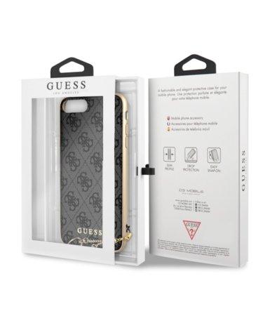 GUESS Etui hardcase GUHCPXGF4GGR iPhone X szary 4G Charms Collection