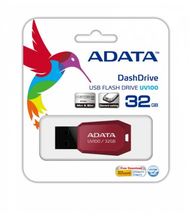 Adata DashDrive Value UV100 32 GB USB2.0 czerwony
