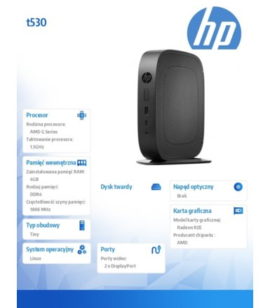 HP Inc. t530 8GB M.2 Flash 4GB/Linux        2DH78AA