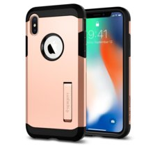 SPIGEN SGP  Tough Armor Blush Gold etui iPhone X