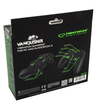 Esperanza GAMEPAD PC/PS 3 USB VANQUISHER