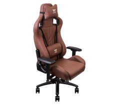 Thermaltake Fotel gamingowy eSports X Fit Real Leather Brown