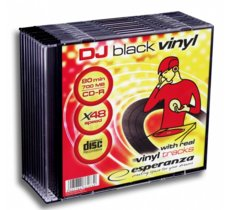 Esperanza CD-R 700 MB VINYL SLIM 10