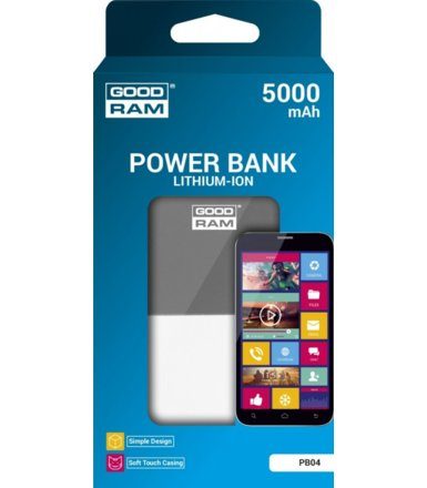 GOODRAM Power Bank 5000mAh v4 Graphite Retail