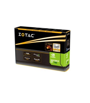 ZOTAC GeForce CUDA GT730 1GB DDR3 128BIT 2DVI/mHDMI BOX