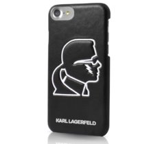Karl Lagerfeld Etui hardcase iPhone 7 KLHCP7HPKLGLO czarny GLOW IN THE DARK
