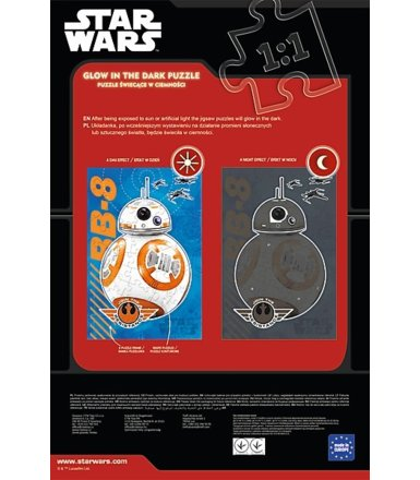 60 elementów, Glow in the dark, Star Wars BB-8 nadchodzi